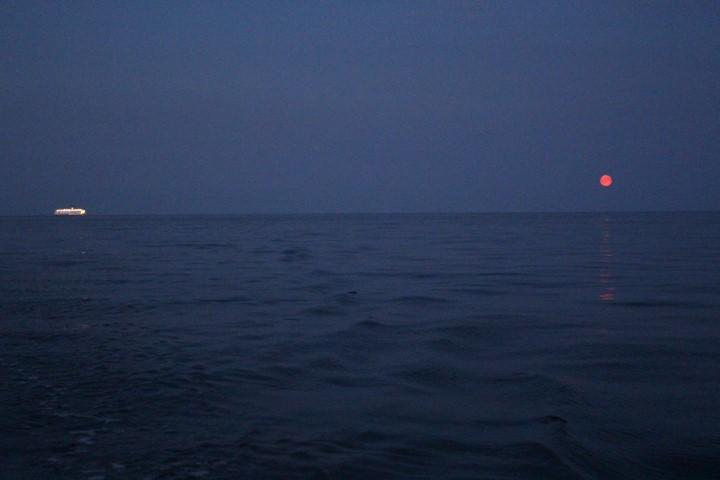 Mondaufgang über der Danziger Bucht