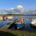 RITH an ihrem Liegeplatz in der Marina Schwedt bei strahlendem Sonnenschein